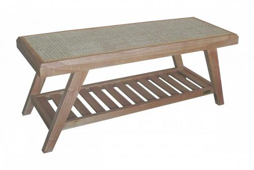 KL-661 RINJANI BENCH WITH RATTAN ANGLE VIEW