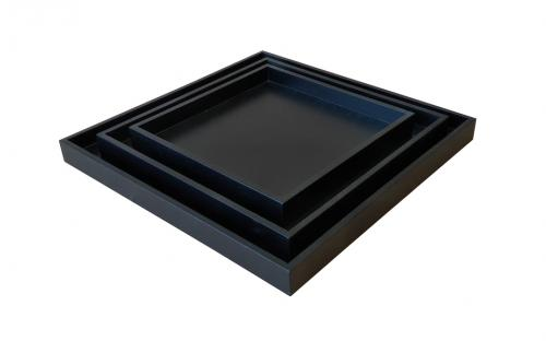 KL-758 ALETA TRAY SET OF 3 ANGLE VIEW