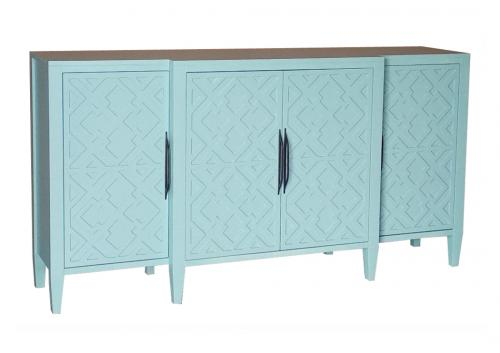 KL-777 CREDENZA 4 DOORS ANGLE VIEW
