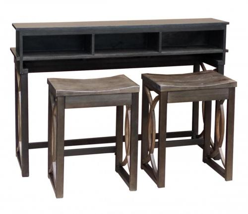 KL-782 CUVI CONSOLE AND BAR STOOL ANGLE VIEW